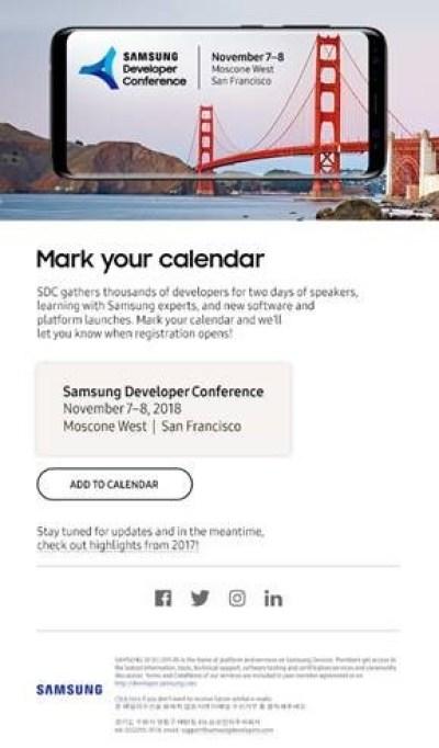 Samsung gelistirici konferansi tarih