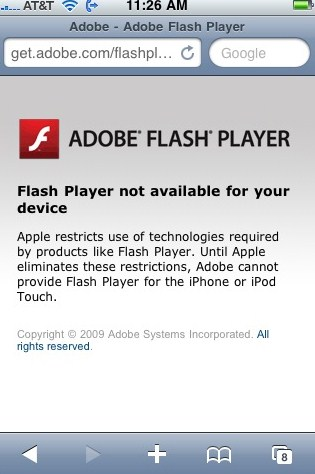 Flash iPhone