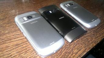Nokia N8 X7 und E6 back