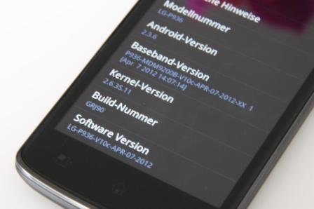 LG Optimus True HD LTE Android 2.3.6