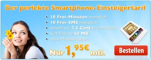 discoplus all in 10 smartphone tarif f r 1 95 euro mtl. Black Bedroom Furniture Sets. Home Design Ideas