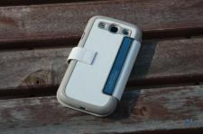 Tridea Samsung Galaxy S3 Flip Card Pocket Case White IMG_8170