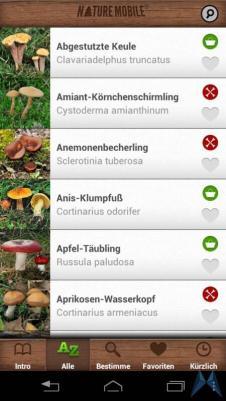 Pilzführer Pro Android test (11)