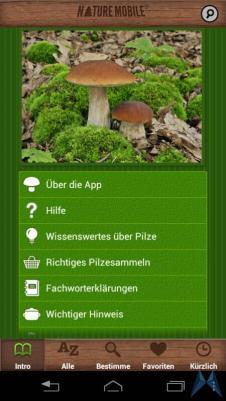 Pilzführer Pro Android test (4)