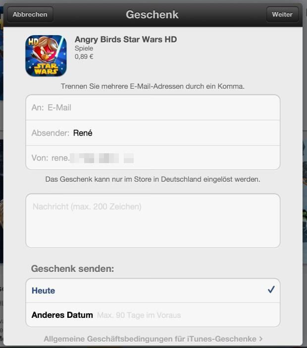 apps verschenken ios 2