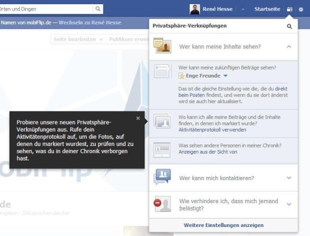 facebook privatsphaere neu