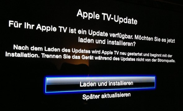 apple tv update