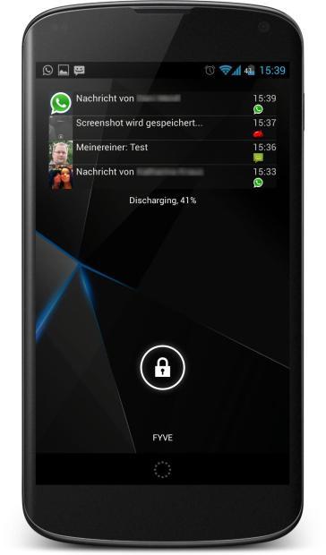 Lockscreen Notification Widget