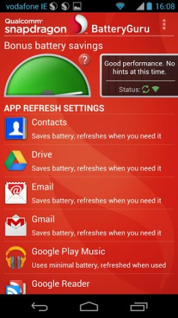 Snapdragon Battery Guru Screenshot1