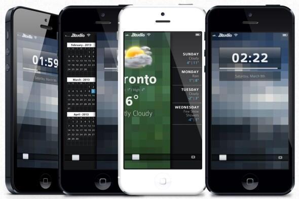Peekly iOS Lockscreen