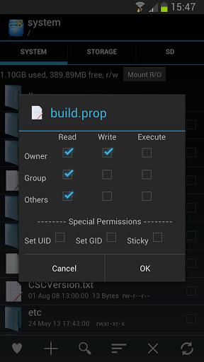 Root Explorer Settings