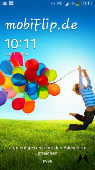 Samsung Galaxy S4 Lockscreen