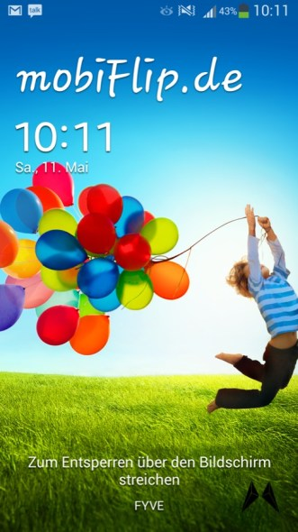 Samsung Galaxy S4 Lockscreen