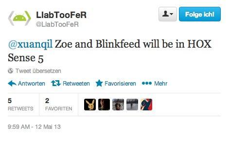 Twitter HOX Blinkfeed