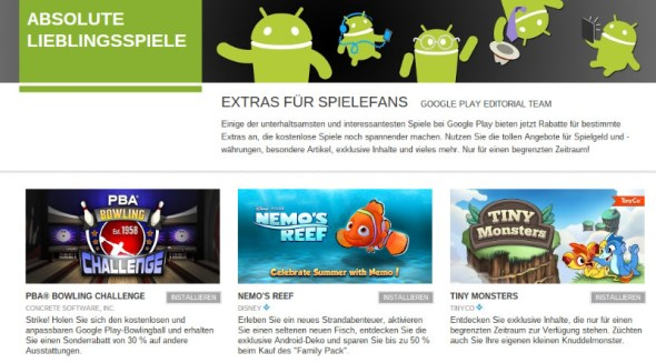 google play store absolute lieblingsspiele aktion