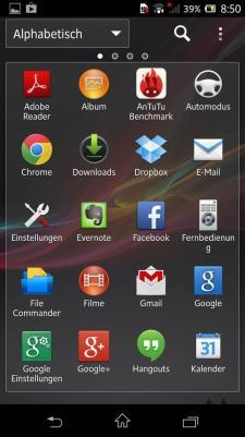 Sony Xperia ZL Launcher
