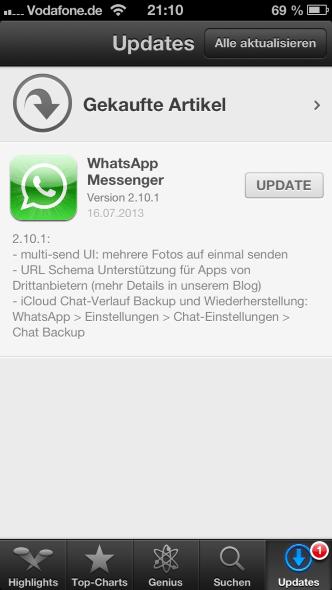 Whatsapp Für Ios Erhält Update Mehrere Fotos Senden Unterstützung