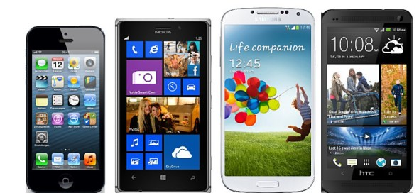 iphone lumia 925 galaxy 23, htc one vergleich