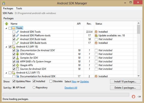 SDK Manager