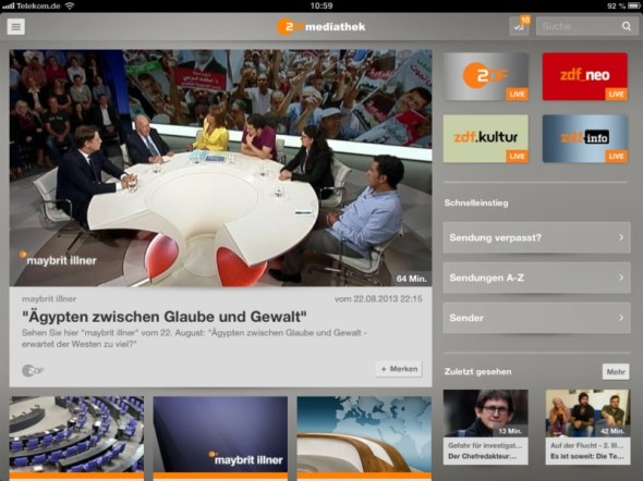 Mediathek-App 1
