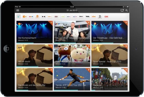 Magine auf iPad mini - Kanalraster
