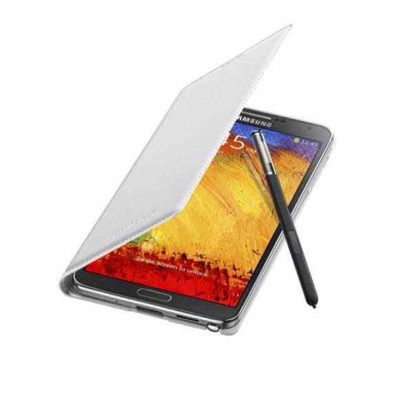 Galaxy Note3 FlipCover_004_Open Pen_Classic White 1