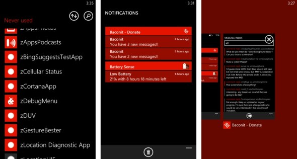 Windows Phone 8 point X screenshots