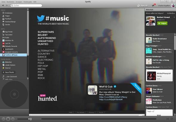 twitter music spotify