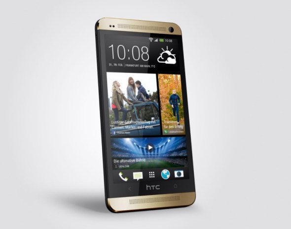 HTC One Golden 34 front right 2