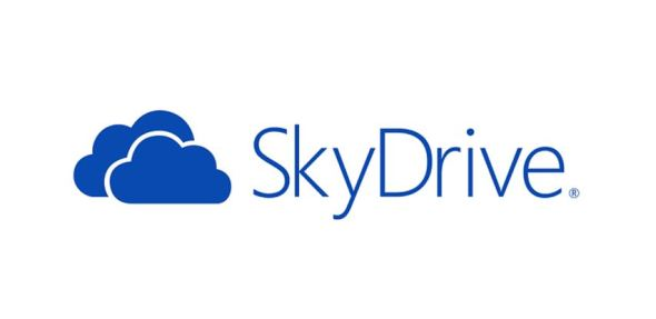 Microsoft SkyDrive Logo Header