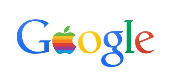 google apple logo header