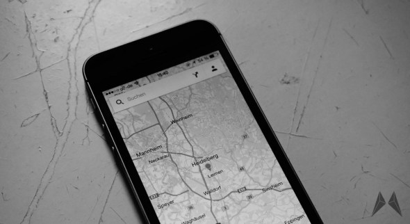 iPhone Maps Karten Header
