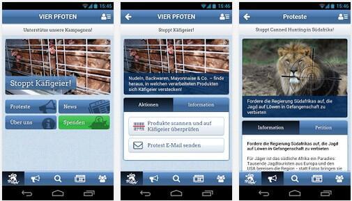 vier pfoten app