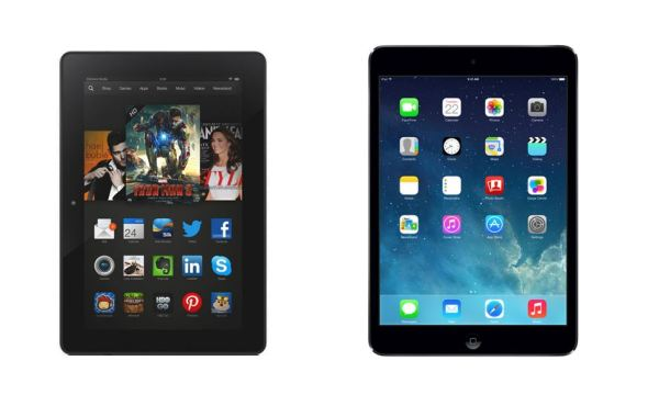 Amazon Kindle Fire HDX Apple iPad Air Header