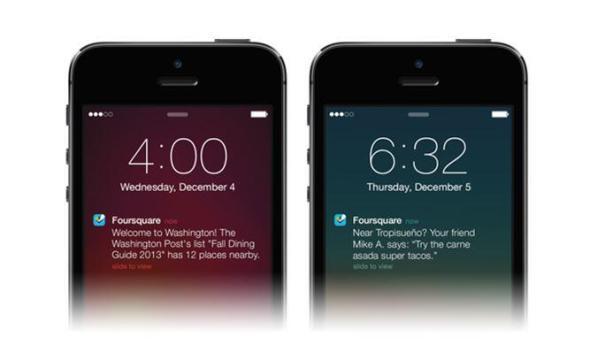 Foursquare Update Notification