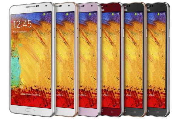 Samsung Galaxy Note 3 Lineup Front