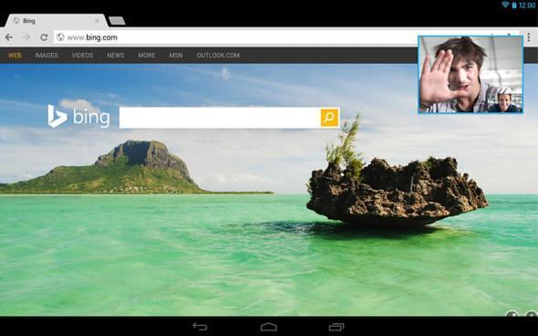 Skype Android Tablets Bild-In-Bild