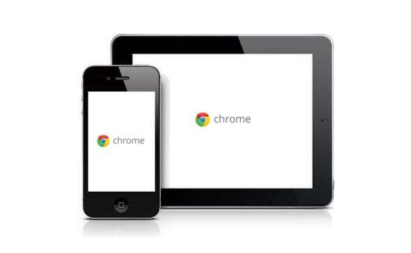 Chrome iOS iPhone iPad Header