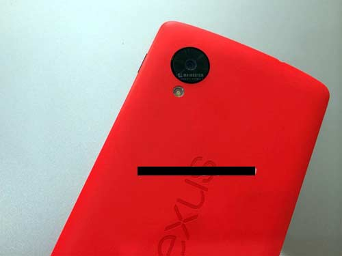 Nexus 5 Red Back