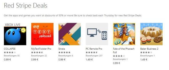 Red Stripe Deals für Windows Phone Aktionsapps für KW 042014