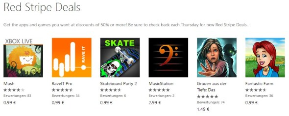 Red Stripe Deals für Windows Phone