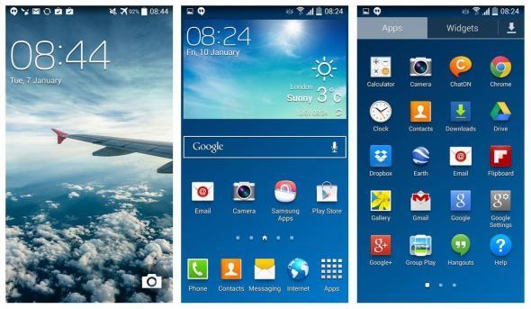 Samsung Galaxy S4 KitKat Screens