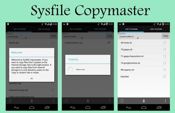 Sysfile Copymaster