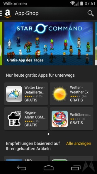 amazon reise apps gratis
