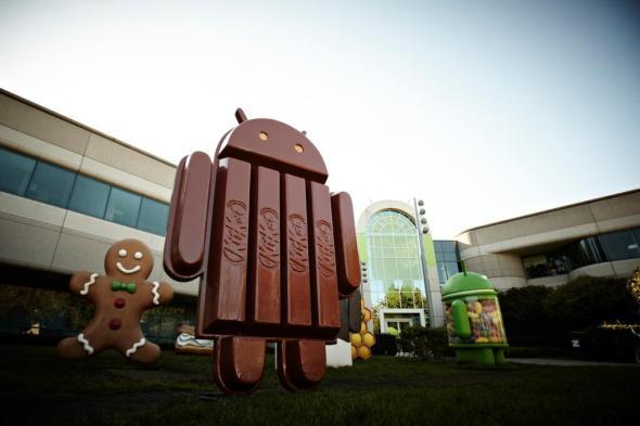 Robotisierten Leckerbissen Die Android-Statuen auf dem Google Campus.