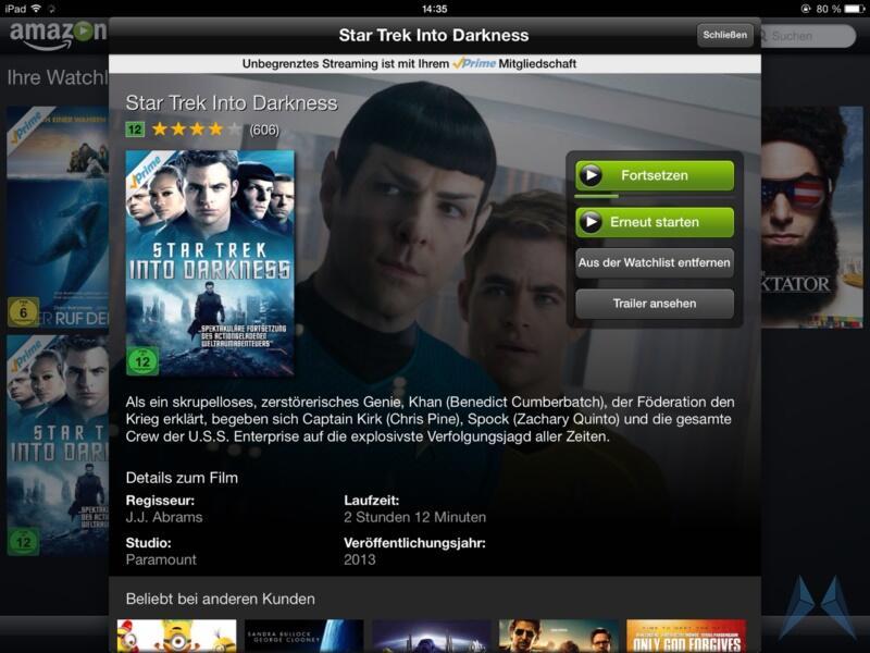 Amazon Prime Instant Video iPad App (1)