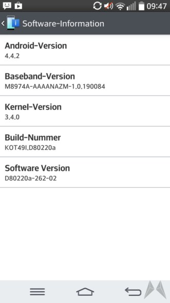 LG G2 Android 4.4.2 Update Vodafone