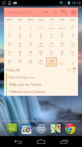 Month calendar widget cotton candy