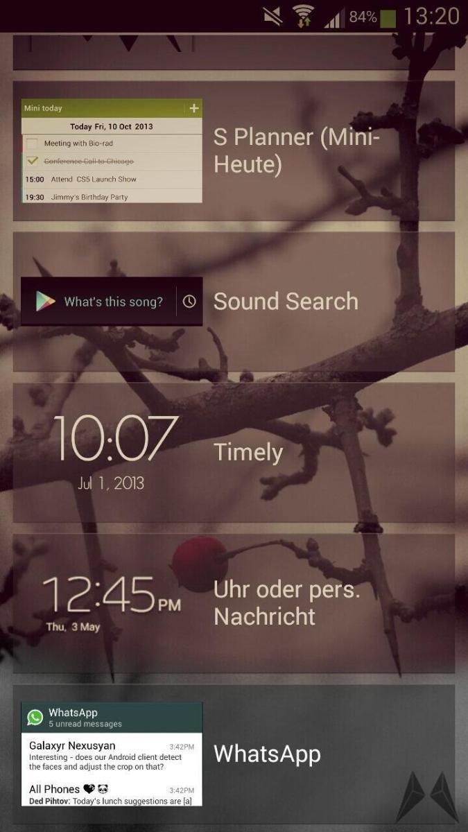 whatsapp f r android jetzt mit lockscreen widget. Black Bedroom Furniture Sets. Home Design Ideas