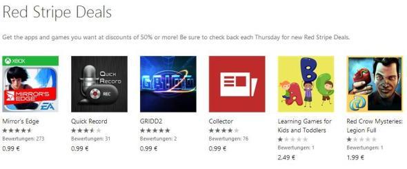 Red Stripe Deals für Windows Phone Aktionsapps für KW 122014